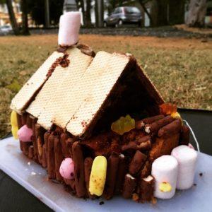 Das Lebkuchenhaus der bösen Hexe