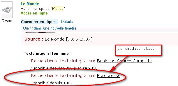 lien Europresse via sfx