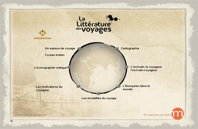 Littérature des voyages (crédits : Université de La Réunion)
