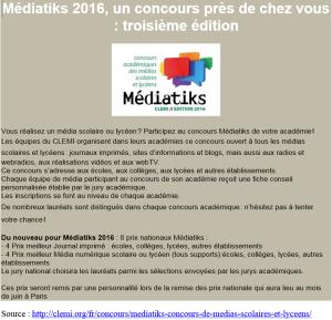 Médiatiks 2016_affiche