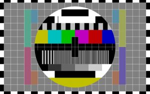Image used to test reception quality on tv-set - licence CC0 1.0