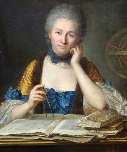 Emilie du Châtelet, portrait par Quentin de La Tour